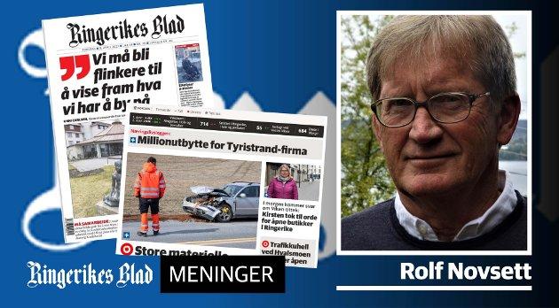 ÅPEN DEBATT: - «Veien videre» er etter min mening avisens mest utfordrende oppgave, skriver Rolf Novsett.