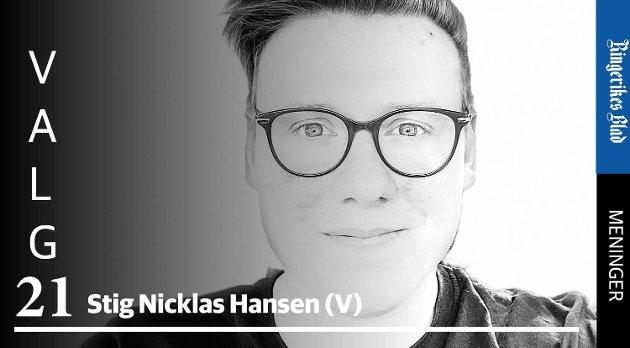 BALANSE: – Ny E16 vil gjøre den enklere å balansere jobbtid og familietid, skriver Stig Nicklas Hansen (V).