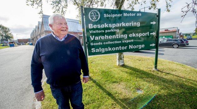 På flyttefot: Sleipner-direktør Arne Skauen ønsker å ta med seg staben på drøyt 100 ansatte til Gressvik – og videreutvikle bedriften der. Foto: Erik Hagen