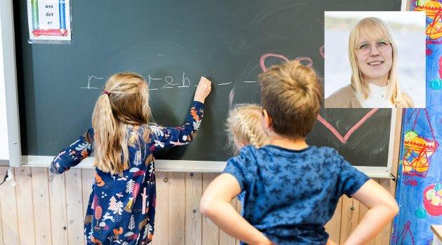 SKOLE: Den største bjørnetjenesten vi kan gjøre for elevene i skolen som er å stille mindre krav. Vi må derimot gi de den hjelpen de trenger få å nå målene og oppfylle kravene, skriver Åse Harjo Øvstegård, stortingskandidat for Høyre.