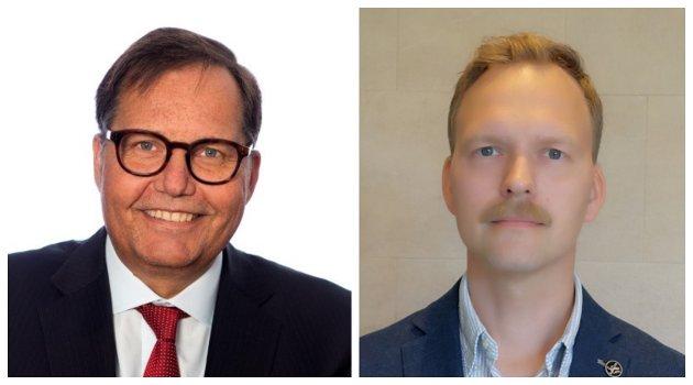Fylkesmann Per Arne Olsen og assisterande fylkeslege Mats Foshaug