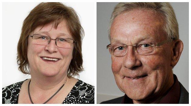 DISKRIMINERING: Merete Dahl og Steinar Gullvåg er opptatt av pensjonistenes økonomiske kår.