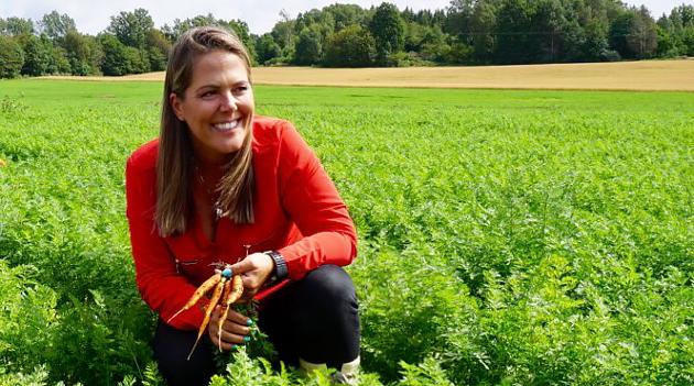 BONDE: Stortingsrepresentant for Høyre, Lene Westgaard-Halle er opptatt av landbruksnæringen.