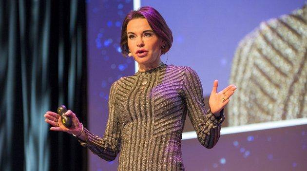 IMPONERENDE: Maria Strømme holdt et forrykende foredrag om nanoteknologi.