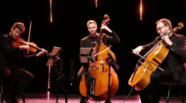 Trio no Treble imponerte på scenen i Mosjøen kulturhus.