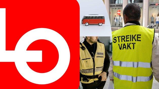 STREIK: – Det pågår for tida to store streiker i norsk arbeidsliv, der vektere og bussjåfører kjemper for rettmessige krav, skriver LO GLTV.