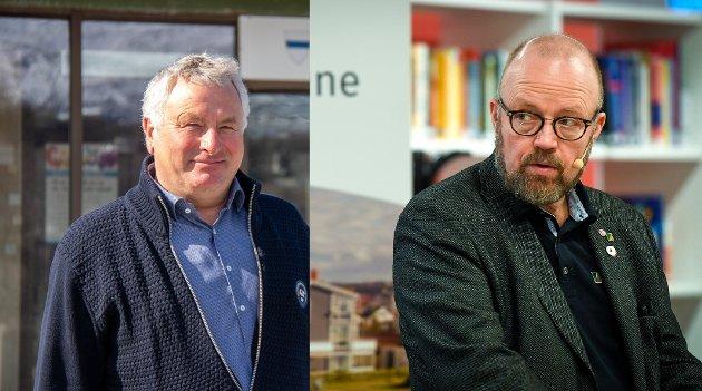 Geir Waage, leder Indre Helgeland regionråd, og Peter Talseth, leder Helgelandsrådet, har høye forventninger til at de folkevalgte skal bidra til å sikre Campus Blå Folkehøgskole en oppstartbevilgning i revidert nasjonalbudsjett.