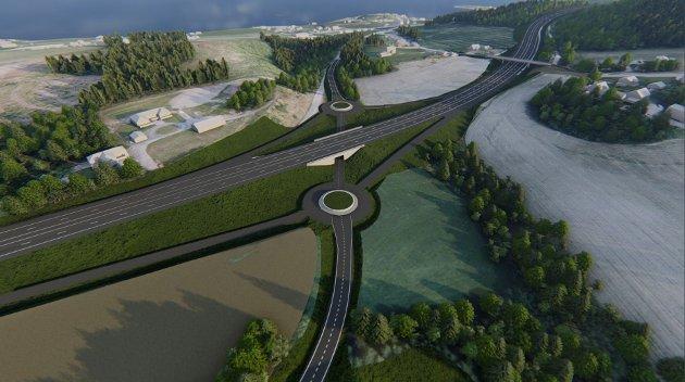 Utbygging av E6 nord for Trondheim, E6 Reitankrysset i Malvik