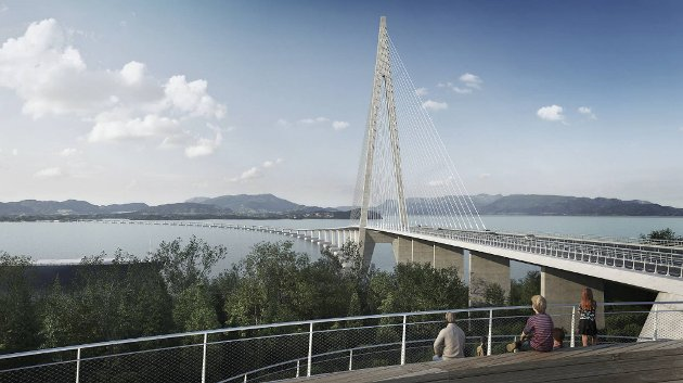 Er det riktig å bruke milliarder på denne broen? Illustrasjon