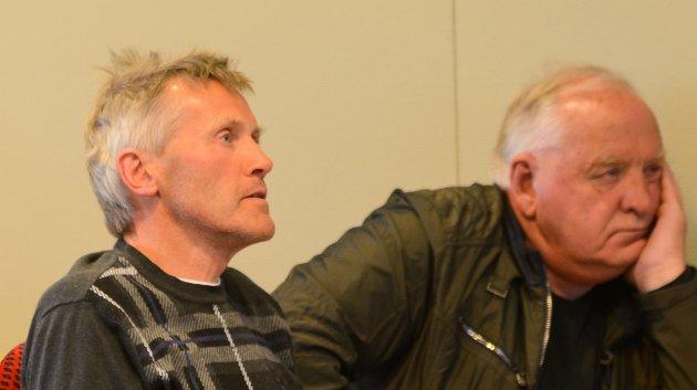 Jan Øvregård og Nils Åge Sandal på møtet om Regional plan for Hardangervidda 2019-2035.