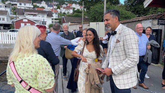 Kulturministeren Abid Raja kom også til Drøbak.