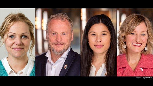 Eivor Evenrud i Rødt, Raymond Johansen i Ap, Lan i MDG og Inga Marte i SV skal onsdag 27. januar stemme ja eller nei til et forslag om reell organisasjonsfrihet for ansatte i Oslo kommune.