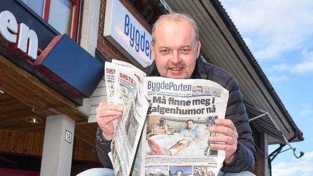 Knut Bråthen har vært  ansvarlig redaktør og daglig leder i både Eikerbladet og  Bygdeposten de tre siste årene. Fra 1. januar fortsetter han som sjef for Bygdeposten