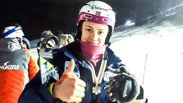 Junior VM i Alpin i Davos 2018. Lucas Brathen.