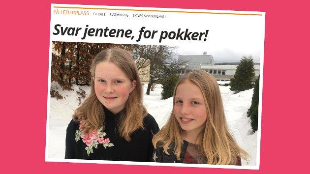 Skjermdump fra eikerbladet.no 8. februar.