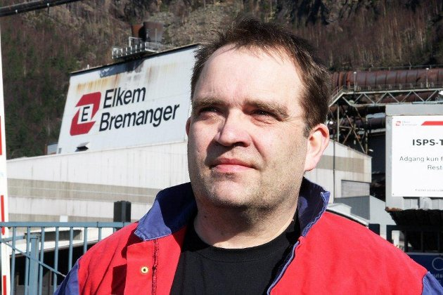 Knut Sande, klubbleiar ved Elkem Bremanger.