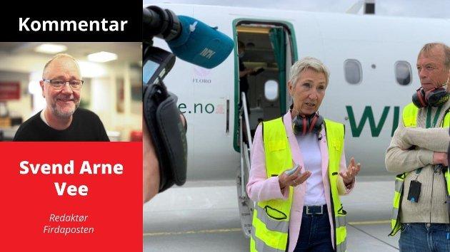 GÅR FOR LANGT: – LO-leiar Peggy Hessen Følsvik må gjerne droppe fly til Florø av prinsipp dei komande åra – men ho har ingen rett eller grunnlag til å spreie allmenn frykt om korvidt det er trygt å setje seg inn i eit DAT-fly, meiner redaktør Svend Arne Vee.