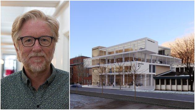 No er det altså Nynorsk kultur og Nynorsk medieinnhald som skal blomstre i det nye bygget i sentrum av Førde, skriv ansvarleg redaktør i Firda, Kai Aage Pedersen