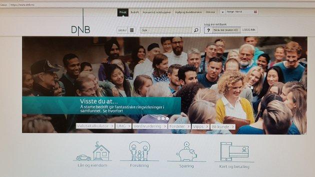 DNBs nettbank – en verden mange seniorer ikke har amibsjoner om å bevege seg inn i, ifølge Finn Åsmund Johnsbråten.