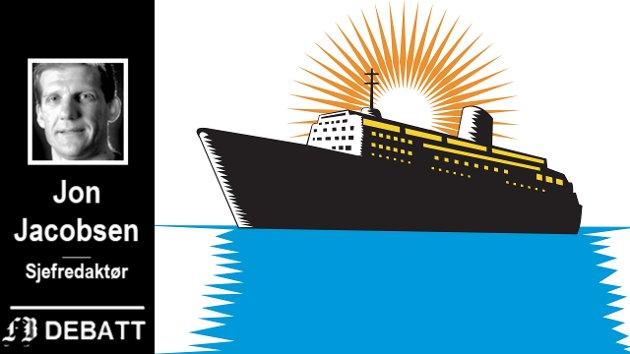 Etter seks år og flere millioner kroner, er Fredrikstads cruisesatsing ikke i nærheten av å oppfylle de vidløftige ambisjonene. Nå bør hele satsingen seile inn i solnedgangen for godt, mener FBs sjefredaktør.