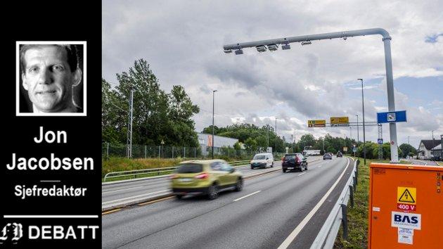 Firefeltsstrekningen mellom Ørebekk og Simo er det eneste synlige resultatet vi har, 13 år etter vedtaket om en bompengepakke. Det gir cirka 100 meter ny vei i året.