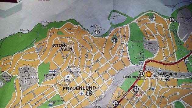 Turistkontoret i Narvik anbefaler folk å fricampe i tre konkrete, svært bynære områder, fra Ornes, via Taraldsvik til flyplassen.