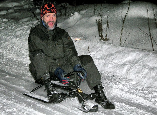 Glåmdalens Frede Eriksen er en leken mann. Han vil gjerne ake ned Holtberget den 6. februar. Vil du være med?