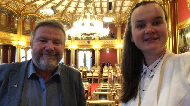 Bengt Fasteraune og Marit K. Strand, stortingsrepresentanter Senterpartiet
