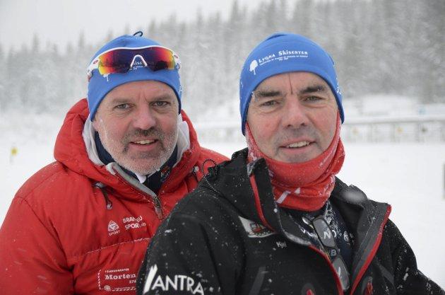 Frivillige: Finn og Kjell Staff er to av mange ildsjeler som legger ned stor innsats for fellesskapet. Foto: Arvid Holmlund