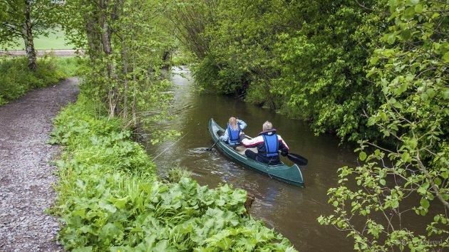 VIGGA: Kanopadling i Vigga. Det er mange typer rekreasjon. Foto: Bjørn Haslerud