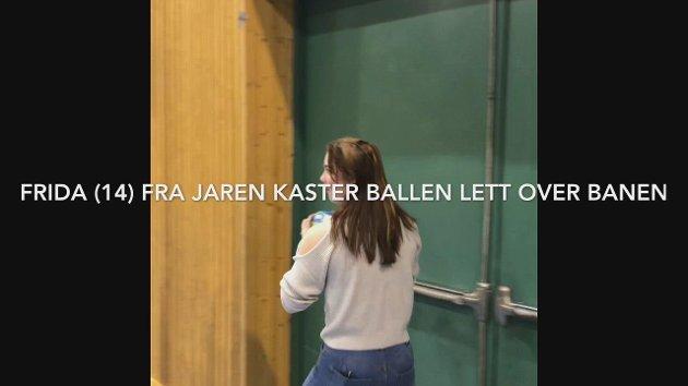 KRAFT: Fride Mortensen Johansen har en rå skuddarm.