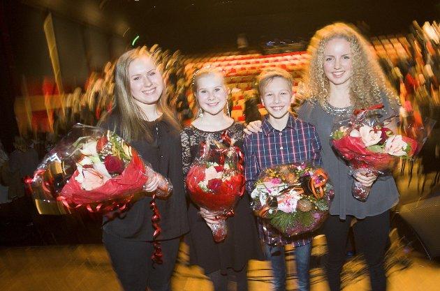 Anniken Hillestad, Aurora Berger Grosvold, Sander Staal og Hedda Harboe