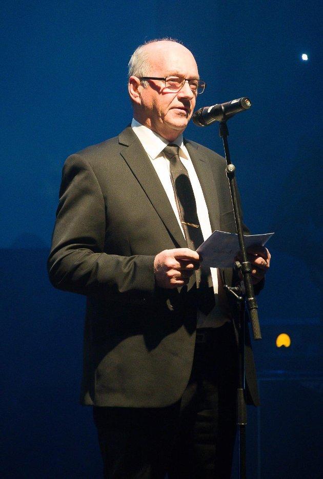 Bjørn Ståhl er leder for generalforsamlingen i Sparebankstiftelsen og var en av prisutdelerne under Haldengallaen. Foto: Stein Johnsen
