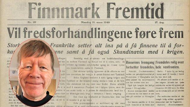 SAVNER AVISER: Historiker Vidar Eng lurer på om noen har tatt vare på utgaver av avisen Finnmark Fremtid.