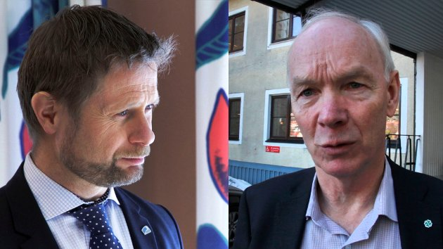DUELL: Bent Høie og Per Olaf Lundteigen er ikke enige om sykehuspolitikk.