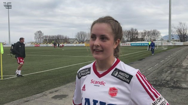 HJEMMEKAMP: Nå er det Harstad som er hjemmebane for den tidligere LFK-spilleren Tonje Sandnes. Hun spiller på Medkila, som er et førstedivisjonslag.