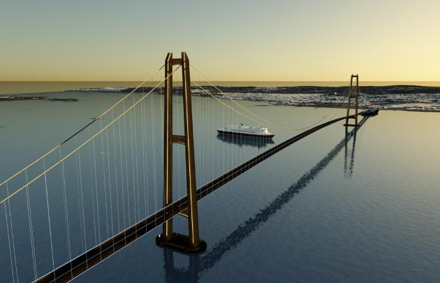 Slik kan en ny bro over Oslofjorden se ut.
