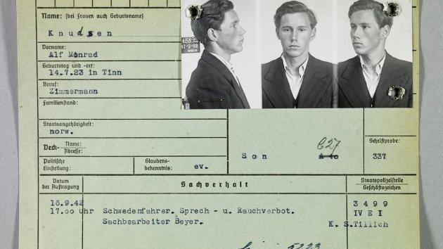 FANGE: Alf Monrad Knudsen satt i fem konsentrasjonsleire under andre verdenskrig.