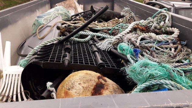 Resultat av strandrydding på Salsnes mai 2021. I helga er det klart  for en ny runde med dugnad.