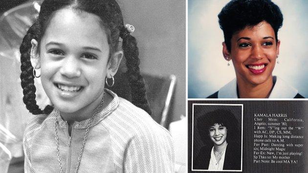 Kamala Harris ble født i 1964 i Oakland, California. Hennes mor hadde kommet til USA fra India i 1960 hvor hun møtte Donald J. Harris som opprinnelig var fra Jamaica. Harris vokste opp i Berkeley, og gikk som ung både i hindutempel og baptistkirke.  Etter at foreldrene skilte seg flyttet Harris som tolvåring med sin mor til Canada. Hun gikk senere på Howard University i Washington, D.C., studerte senere jus i California, og i 1990 ble hun advokat.