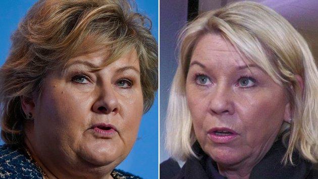 HAR PLANENE KLARE: Statsminister Erna Solberg og justis- og beredskapsminister Monica Mæland.