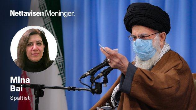 Irans øverste leder, Ayatollah Ali Khamenei, avbildet under en debatt om landets økonomiske tilstand i november i fjor.