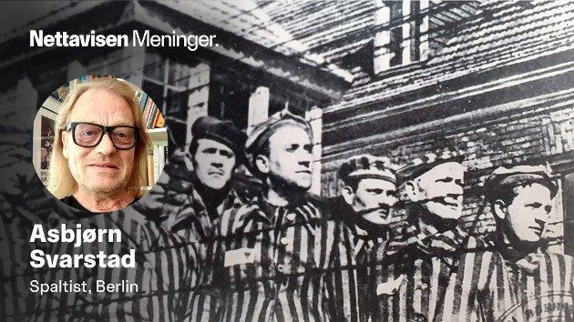 DOMSTOLENE RYDDER OPP: – Det er nok en tilfredsstillelse for de få overlevende at SS-oldingene må gå i graven med morder-stempelet i pannen, skriver Asbjørn Svarstad. Bilde fra konsentrasjonsleiren Sachsenhausen.
