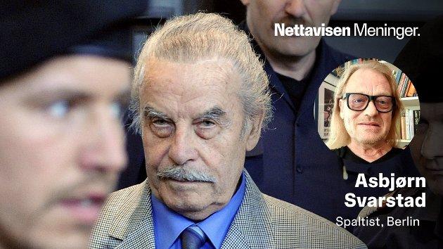 FORHATT: Josef Fritzl ble dømt til livstid etter å ha holdt sin egen datter Elizabeth fanget i en kjeller i 24 år. Han påsto at han gjorde dette av kjærlighet til henne - for å forskåne henne fra alkohol og narkotika. Hun skal angivelig ha blitt voldtatt mer enn 3000 ganger av sin egen far. Her er Fritzl fotografert under rettssaken i mars 2009.