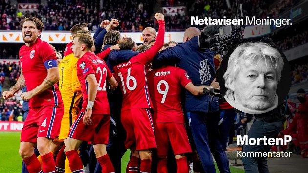 JUBLENDE GLADE: Ståle Solbakkens Norge har noe på gang, skriver MortenP etter at Norge slo Montenegro 2-0 hjemme på Ullevaal Stadion mandag kveld.