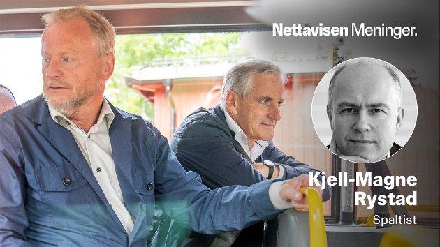OSLO-POLITIKKEN: – Forholdet mellom Jonas Gahr Støre og Raymond Johansen er neppe hjertelig. Kanskje har dette også gjort det lettere for Støre å vende seg mot Senterpartiet og fremforhandle en regjeringsplattform, der distriktene veier tyngre enn Oslo, skriver Kjell-Magne Rystad.