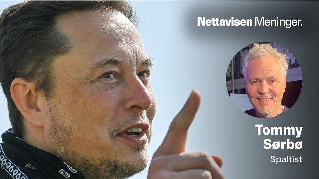 STORE SPØRSMÅL: – Kan jeg være helt sikker på at de andre på bussen faktisk finnes? spør Tommy Sørbø, som i denne kommentaren utforsker en tanke han hadde på bussen for over 50 år siden. På bildet: Tesla-gründeren Elon Musk, som har tenkt samme tanke høyt ved flere anledninger.