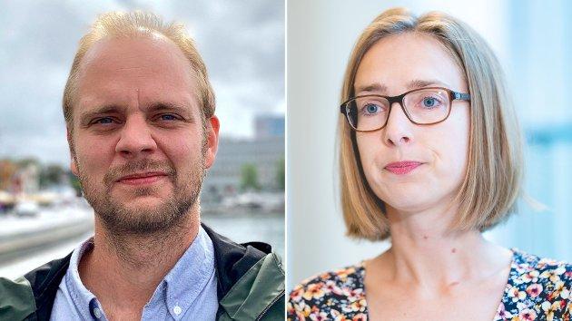Mímir Kristjánsson (R) og Iselin Nybø (V)