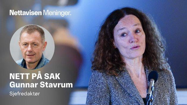 UKLARE SVAR: Folkehelseinstituttets direktør Camilla Stoltenberg klarer ikke å formidle klart hvorfor de prioriterer å vaksinere folk på steder uten smitte, i stedet for å vaksinere folk der det er mye smitte.