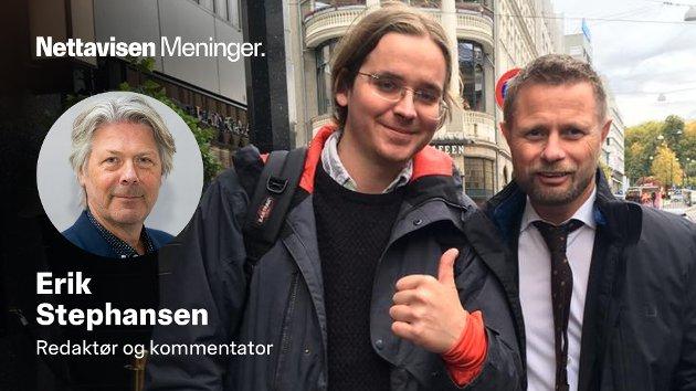 TO ÅR SIDEN: Helseminister Bent Høie (H) sammen med en Sturla Haugsgjerd, en av ildsjelene i narkotikareform-arbeidet i Norge.